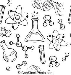 fondo, seamless, scienza