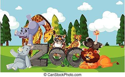 fondo, selvatico, natura, animali