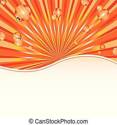 fondo, sole, astratto, sagoma, arancia, baubles