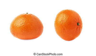 fondo, sopra, isolato, succoso, mandarini, frutte, fresco, bianco