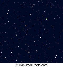 fondo, space., solare, pianeti, sistema