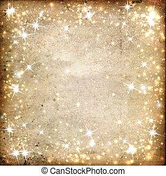 fondo, stelle, pergamena