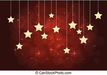 fondo, stelle, rosso