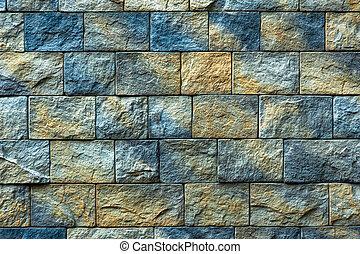 fondo, struttura, vecchio, muro di mattoni