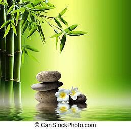 fondo, terme, bambù