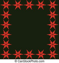 fondo, verde rosso, stelle