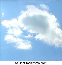 fondo., vettore, cielo, nuvoloso