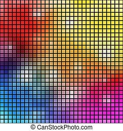 fondo., vettore, colorito, mosaico