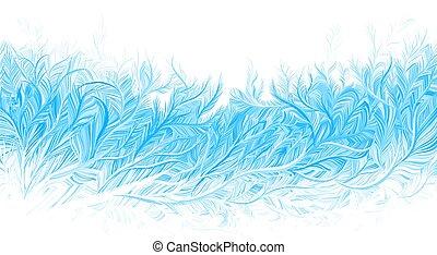 fondo., vettore, ghiaccio, gelo, natale, illustrazione, inverno, blu