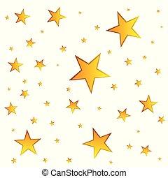 fondo., vettore, oro, stelle, illustration.