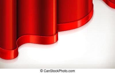 fondo, vettore, rosso, invito