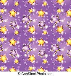 fondo, viola, modello, seamless, stelle, cartone animato
