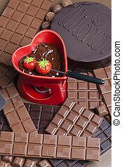 fonduta, cioccolato