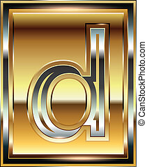 font, lingotto, illustrazione, lettera, d