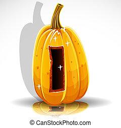 font, taglio, halloween, pumpkin., fuori