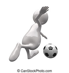 football, 3d, persone