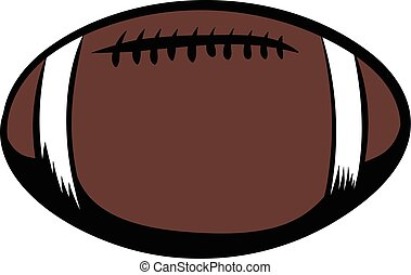 football americano, cartone animato, icona