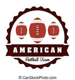 football, americano, disegno