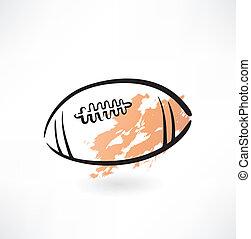football americano, grunge, icona