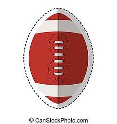 football americano, isolato, icona