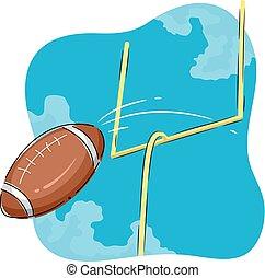 football americano, scopo, illustrazione