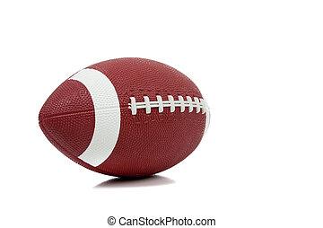 football americano, sfondo bianco