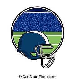 football, americano, sport, apparecchiatura, isolato, icona