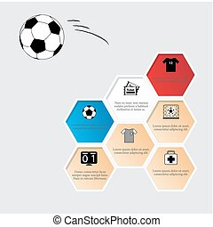 football, favo, icons., appartamento
