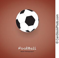 football, fondo, vettore