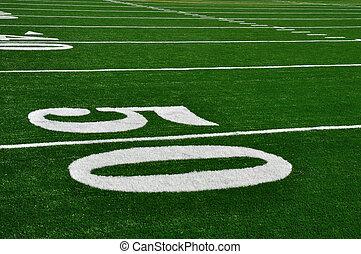 football, linea, americano, cinquanta, iarda, campo