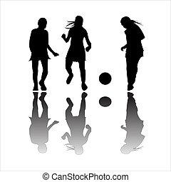 football, ragazze, gioco