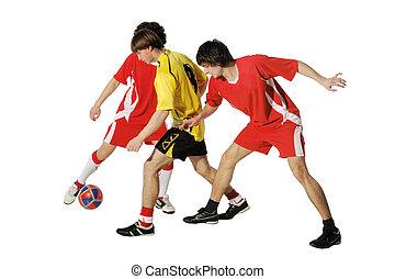 footballers, ragazzi, palla, calcio