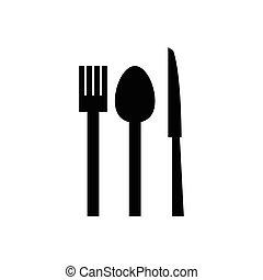 forchetta, coltello, cucchiaio