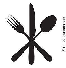 forchetta, cucchiaio, coltello