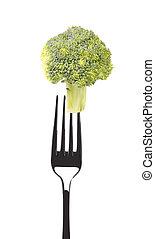 forchetta, fresco, broccolo
