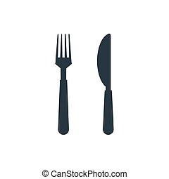 forchetta, icona coltello