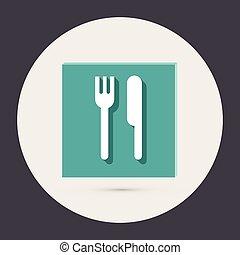 forchetta, knife.
