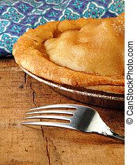 forchetta, torta mela