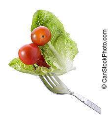 forchetta, verdura