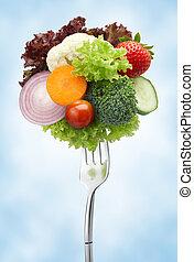 forchetta, verdura, varietà