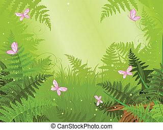 foresta, magia, paesaggio