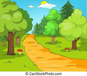 foresta, radura