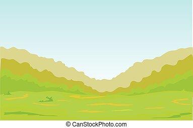foresta verde, pianura, cintura