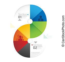 forma astratta, infographic, disegno, stile, disposizione, /, sagoma, infographics, cerchio, minimo, sito web, essere, usato, orizzontale, disinserimento, numerato, grafico, linee, vettore, lattina, bandiere, o