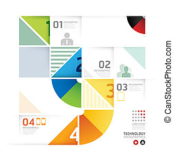forma astratta, infographic, disegno, tecnologia, stile, disposizione, /, sagoma, infographics, cerchio, minimo, sito web, essere, usato, orizzontale, disinserimento, numerato, grafico, linee, vettore, lattina, bandiere, o