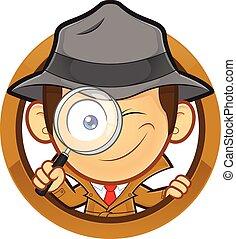forma, cerchio, detective
