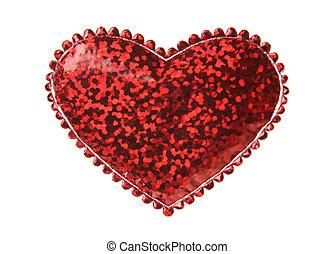 forma cuore, rosso