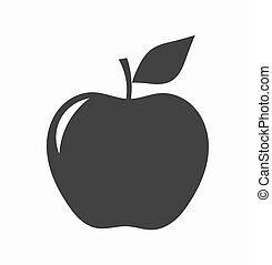 forma, mela, icona