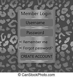 forma, mobile, universale, leopardo, kit, fondo., vettore, ui, utente, interface., stampa, interfaccia