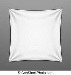 forma, quadrato, bianco, teso